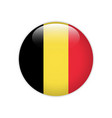 belgium flag on button vector image