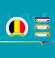 belgium national team schedule matches in the vector image vector image