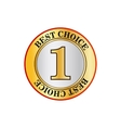 Best choice with number one label icon flat style vector image vector image