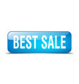 best sale blue square 3d realistic isolated web vector image vector image