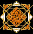 black and gold leopard vector image vector image