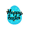 blue happy easter greeting vector image vector image