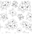 Bridal seamless pattern vector image vector image