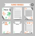 cards and symbols for organized you planner vector image vector image