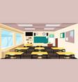 cartoon empty classroom high school room interior vector image vector image