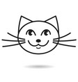 cat hand drawn icon vector image vector image