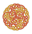 celtic circle cross vector image vector image