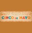 cinco de mayo fun mexican typography web banner vector image vector image