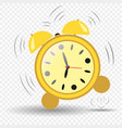 clock alarm clock seven hours jumping ringing vector image vector image