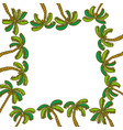 coconut tree frame empty template vector image vector image