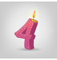 colored candles for holiday hand-drawn vector image vector image