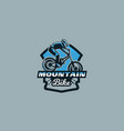 colorful emblem badge logo of a rider on a vector image vector image