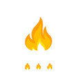 colorful flame icon on white vector image vector image