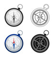 compass icon in cartoon style isolated on white vector image