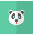 cute panda on green background vector image