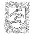 deer heraldry vintage engraving vector image