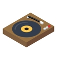 DJ console isometric 3d icon vector image