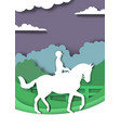 dressage horse and rider silhouettes vector image