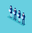 economy teamwork concept business isometric vector image