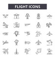 flight line icons for web and mobile design vector image vector image