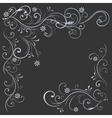 floral pattern white black vector image vector image