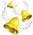 flying bells vector image vector image