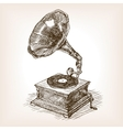 Gramophone sketch style vector image