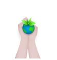 green earth concept design green world globe in vector image
