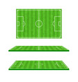 green soccer field on white background 001 vector image vector image