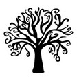 halloween creepy scary bare tree symbol icon vector image