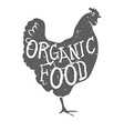 Hand Drawn Farm Animal Chicken Organioc Food vector image vector image