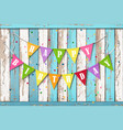 happy birthday wooden background vector image vector image