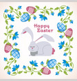 happy easter - modern square card vector image vector image