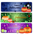 holiday banners for halloween vector image vector image