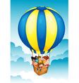 Hot air balloon Trip vector image vector image