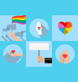 icon with a symbol of homosexuals vector image