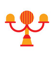 isolated carnival lamp icon vector image
