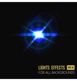 Light effect of sun burst through lens glass vector image vector image