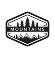 mountain and pines tree icon vector image