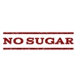 No Sugar Watermark Stamp vector image vector image