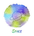 Planet Space Astronomy Watercolor Concept vector image