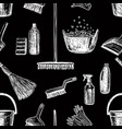 seamless pattern on the theme of cleaning vector image
