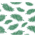 seamless pattern palm tree leaves silhouette vector image vector image