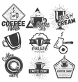 set coffee and cafe labels in vintage vector image vector image