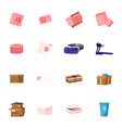 set icons washing machine quarry trolley and vector image
