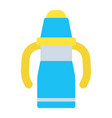 sippy cup flat icon baby cup and bottle vector image vector image