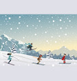 skiing people vector image vector image