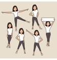 Sport women silhouettes set vector image