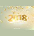 the happy new 2018 year card vector image vector image