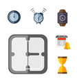 time management planning and control clock timer vector image vector image